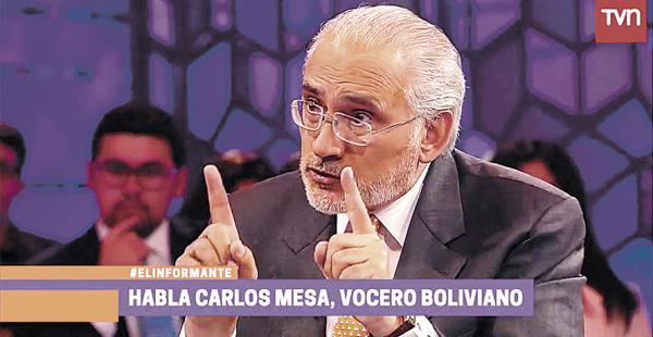 El expresidente Carlos Mesa está satisfecho con la entrevista que tuvo repercusión en Chile
