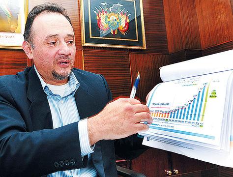 Despacho. En febrero de este año, el Ministro de Planificación concedió una entrevista a La Razón.