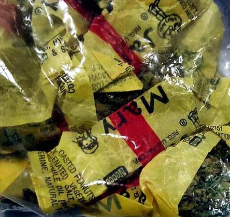 Estos dulces de marihuana fueron confiscados en el aeropuerto de Newark Liberty