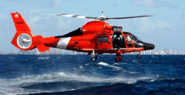 Un helicóptero de la Guardia Costera de EEUU auxilió a la tripulación del carguero boliviano que se hundió en el mar