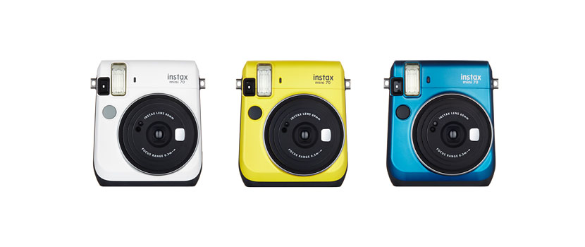 instax mini 70 fujifilm Las nuevas cámaras instántaneas de Fujifilm con ese estilo tan adorablemente retro