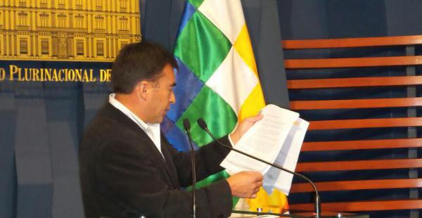 """El ministro de la Presidencia señaló que luego de realizarse las investigaciones correspondientes  se tomará """"determinaciones"""" sobre la relación con el Gobierno de EEUU"""