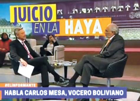 Televisión. Mesa viajó a Santiago el mismo día de la entrevista con José Manuel Astorga, el martes.