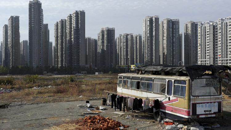 Un barrio donde viven los pobres en China
