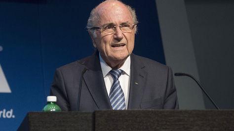 Joseph Blatter en su discurso oficial de hoy. Foto: AFP