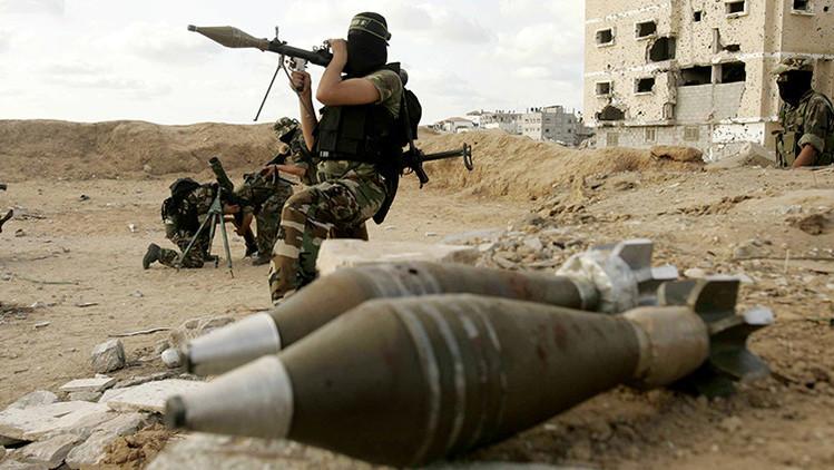 Milicianos de la yihad islámica participan en un entrenamiento