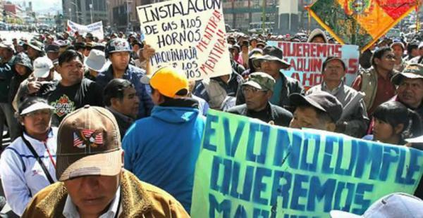Los panaderos han realizado manifestaciones en las que exigen se cumpla con lo prometido