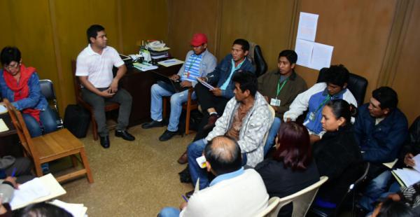 Cuatro comisiones de trabajo entre los indígenas chiquitanos y la Gobernación de Santa Cruz