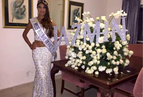 Jazmín ganó el título de miss Bolivia Tierra en julio y renunció en agosto