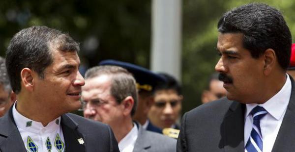 Los presidentes de Ecuador, Rafael Correa, y de Venezuela, Nicolás Maduro participarán del cierre de la cumbre del clima de Tiquipaya