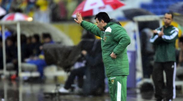 Julio Cesar Baldivieso, entrenador de Bolivia. Foto: AFP