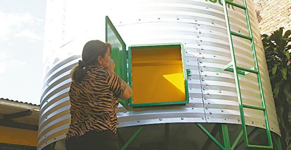 El silo cuenta con un sistema de ventilación que garantiza su calidad