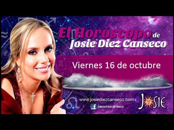 Josie Diez Canseco: Horóscopo del viernes 16 de octubre (FOTOS)
