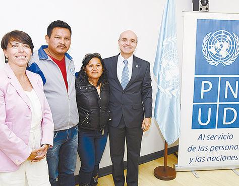 La Paz. Villar, Cartagena, Chuqui y Ramírez, en oficinas de la ONU.
