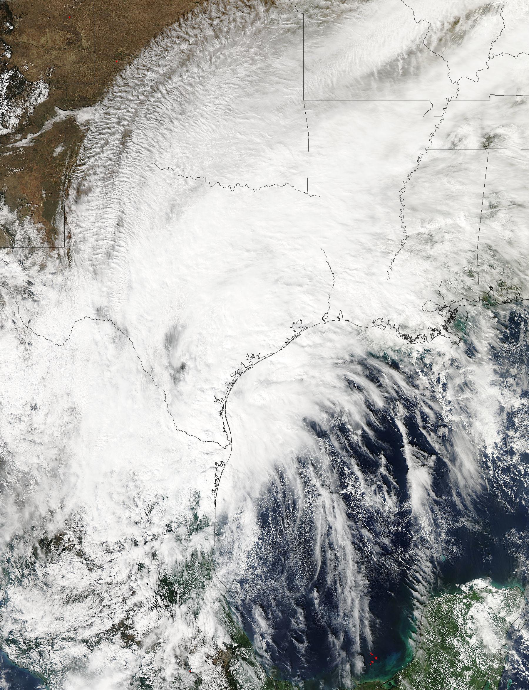 La imagen del huracán Patricia