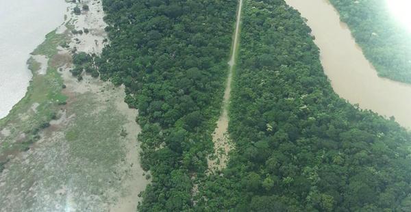 Esta pista clandestina para el narcotráfico fue detectada en 2014 en territorio beniano, según la Felcn
