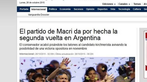 Repercusión mundial de las elecciones: La Vanguardia (España)