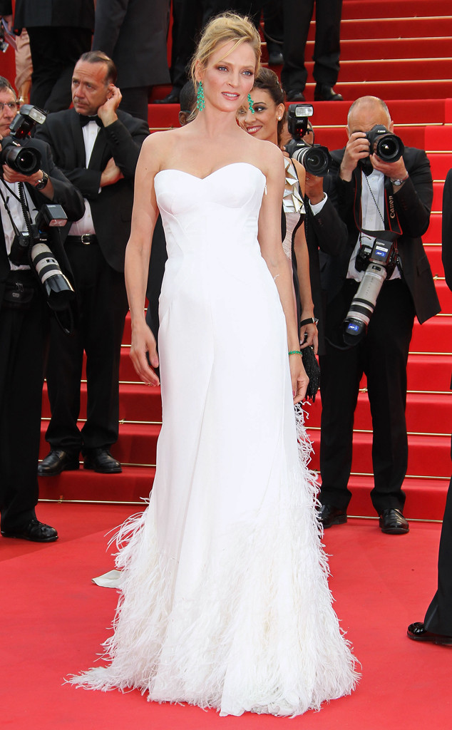 Uma Thurman, Red Carpet Wedding Gowns