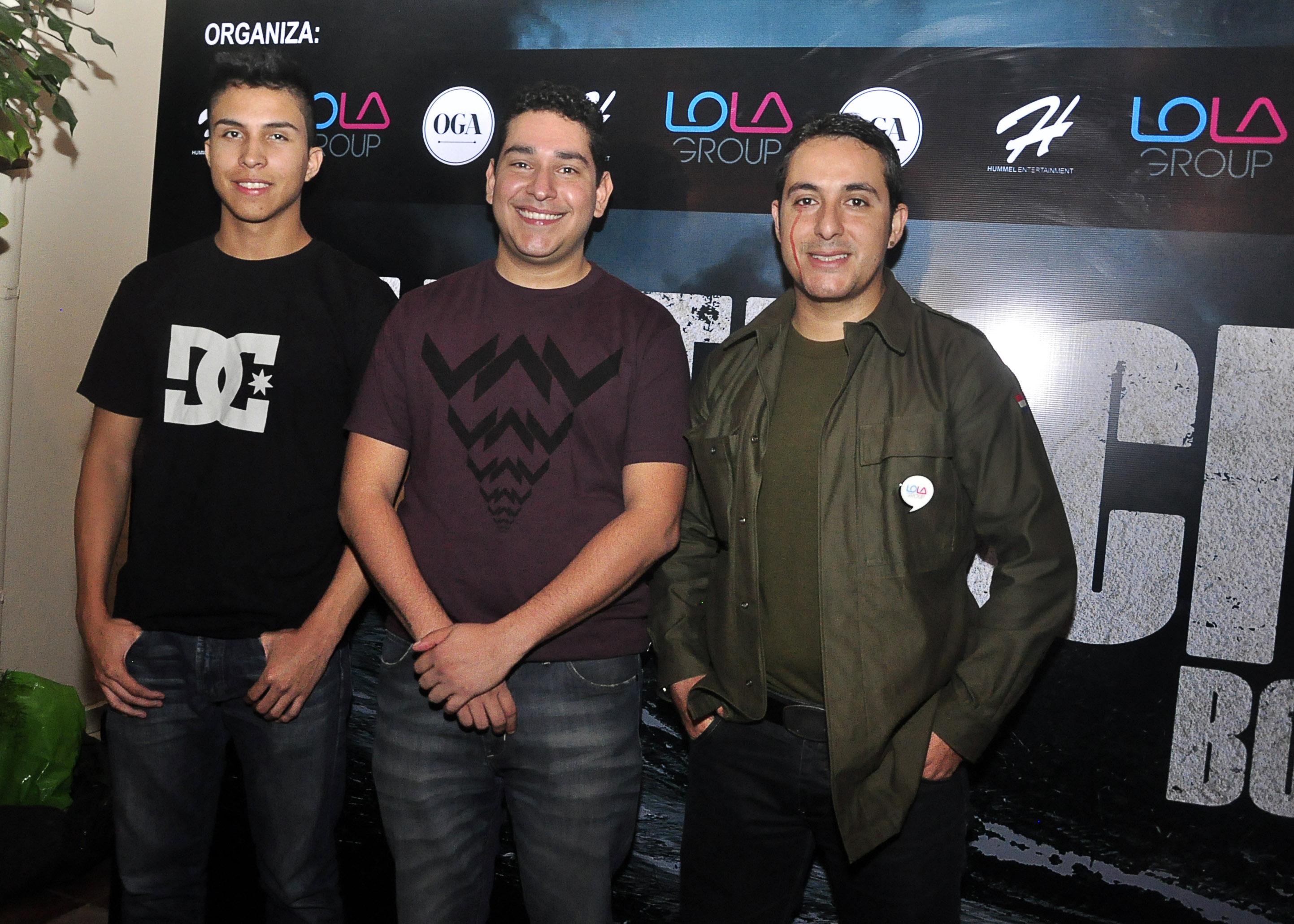 Alexander Hummel, José Parada y Fernando Sandoval