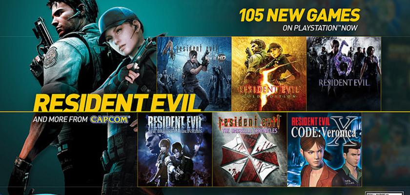 resident evil capcom PlayStation Now añade más de cien juegos a su catálogo
