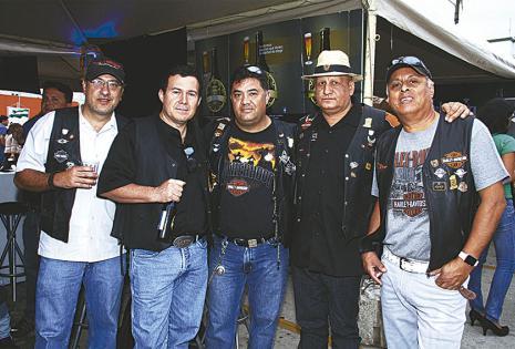 Rómulo Calvo, Ricardo Peña, Julio Baldivieso, Guido Capriles y 'Nani' Lozano
