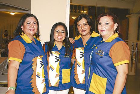 Fanny Moya, Jéssica Vaca, Anahí  Dorado y Fabiola Ardaya