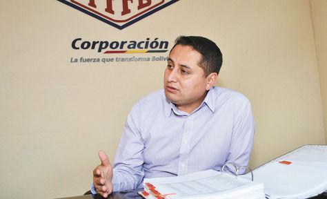 La Paz. El presidente de YPFB Corporación, Guillermo Achá, en una anterior entrevista con este medio. Foto: Miguel Carrasco / archivo