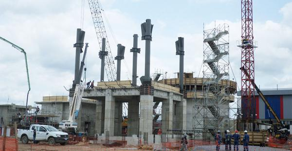 Construcción. La planta de Yacuses, de Itacamba, registra un 80% de avance en los galpones industriales
