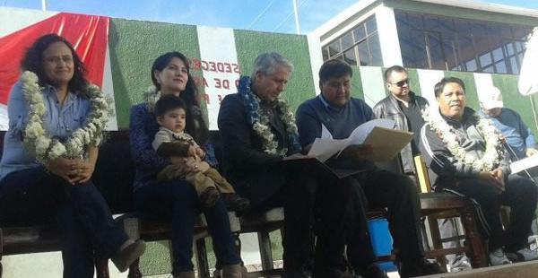 El mandatario en ejercicio se encuentra protagonizando una intensa agenda de actividades en el departamento de Potosí.