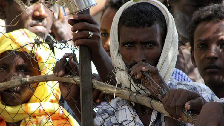 Campamento de refugiados eritreos en Kasala, Sudán
