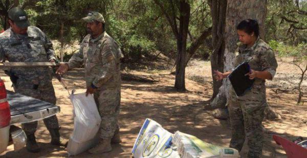 El cargamento fue abandonado a menos de 80 metros de la frontera entre Paraguay y Bolivia. Se presume que escaparon al país.