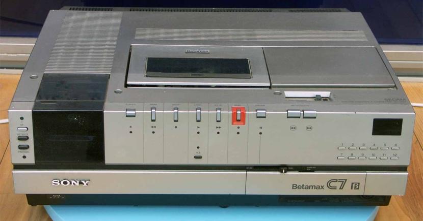Sony Betamax Recorder Sony deja de fabricar cintas para Betamax