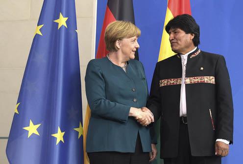 ENCUENTRO. El Presidente del Estado Boliviano y la Canciller de Alemania. - Agencia de noticias  EFE Agencia