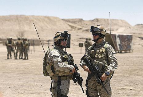 Más de 5.500 soldados chilenos participan en los ejercicios de guerra Huracán 2015, en Pampa Perdiz
