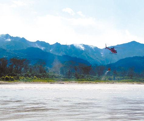 Desastre. En tres días, el fuego afectó aproximadamente 250 hectáreas del parque Madidi, en La Paz.