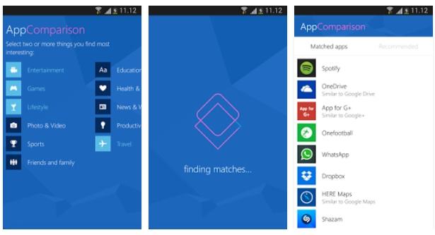 appcomparison Microsoft lanza un app en Android para motivar el cambio a Windows 10 Mobile