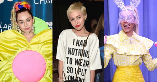 Miley Cyrus, Craziest Outfits