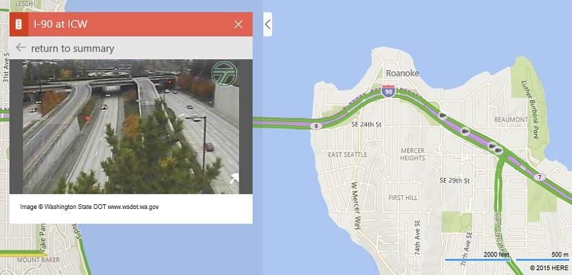 Bing Maps Ya es posible ver cámaras del tráfico en directo desde los mapas de Bing