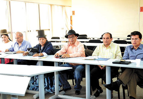 Cita. Los consejeros de la Magistratura reunidos ayer en Cochabamba.