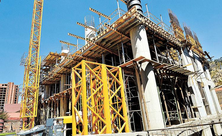 Una nueva construcción en Irpavi. Foto: Ignacio Prudencio