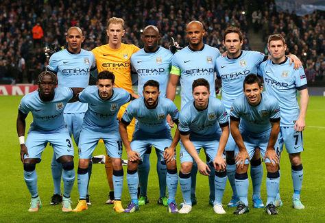 Formación del Manchester City. Foto: www.ciudadfutbol.com