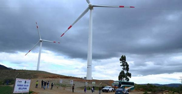 La primera fase de la primera planta eólica de Bolivia produce desde enero del año pasado 3 megavatios de energía