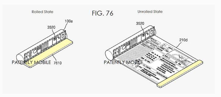 patente samsung Más madera para las pantallas flexibles de Samsung