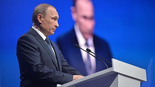 El presidente de Rusia, el pasado lunes en Stavropol