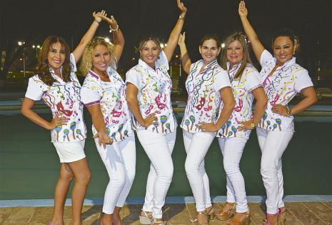 Cecilia Ayaviri, Rosario Saucedo, Evy Karina Rojas, Mailen Melgar, Marcela Suárez y Paola Ramos