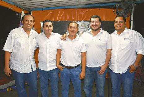 Alfredo Bazán, Daniel Soliz, Daniel Lladó, Stello Cochamanidis y Eduardo Daga