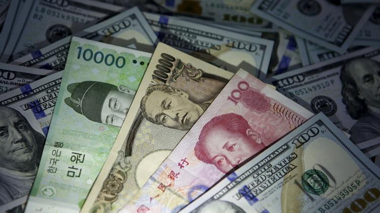 El won surcoreano, el yuan chino y el yen japonés