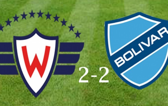 Bolívar logra un esforzado empate 2-2 ante Wilstermann