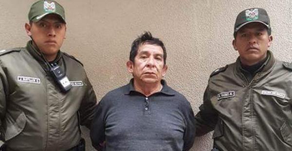 Felipe Molina Bustamente fue capturado en un operativo policial este domingo por la tarde. Es el presunto asesino de Marcelo Quiroga Santa Cruz