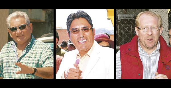 Rubén Costas, Félix Patzi y ahora Adrián Oliva son los tres gobernadores que apoyan el No
